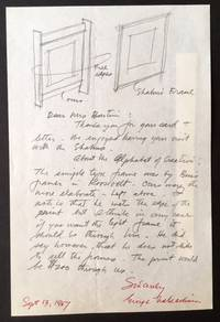 Signed Handwritten Letter with Illustrations