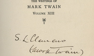1901. A rare signed volume of this renowned workAmong the greatest and best known works of Twain - i...