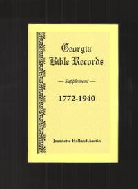 image of Georgia Bible Records, Supplement, 1772-1940