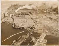 Aerial view of Bechtel Corporation logging plant