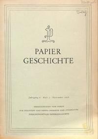 Papiergeschichtliche Veröffentlichungen von Franz Zuman.
