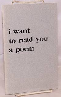 image of I Want to Read You a Poem [signed by editor]