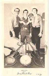 PHOTOGRAPHIC (real-photo) POSTCARD FEATURING JOHNNY ASHTON AND HIS JERSEY RANCH BOYS:; Addressed...