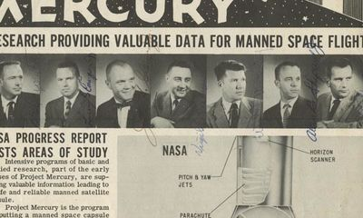 1/4/59. Mercury 7 In response to the success of the launch of the first satellite by the Soviet Unio...
