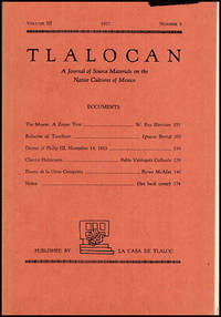 image of Tlalocan: A Journal of Source Materials on the Native Cultures of Mexico (Vol III, No 3, 1952)
