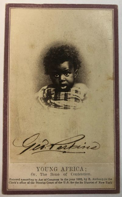 New York: , 1862. Vignette print of a young Black child, 2-1/2