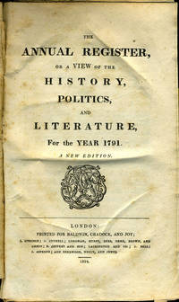 image of The Annual Register, or a View of the History, Politics, and Literature, For the Year 1791