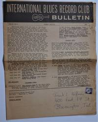 image of International Blues Record Club Bulletin. Vol.2, No.1, Winter 1962/63
