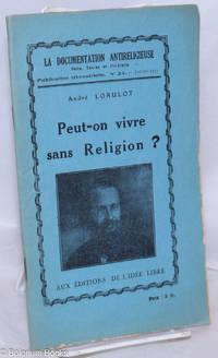 image of Peut-on vivre sans Religion