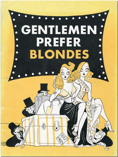 pp. Quarto. Stiff two-color pictorial wrappers, cover art by Al Hirschfeld. Numerous black & white p...