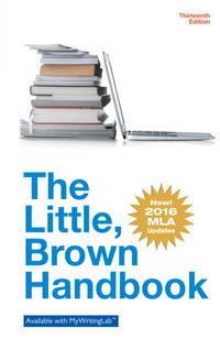 Little Brown Handbook, The MLA Update Edition (13th Edition)