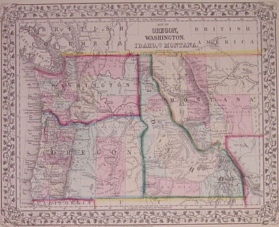 Philadelphia: Mitchell, Samuel Augustus Jr., 1871. unbound. very good. Map. Engraving with original ...