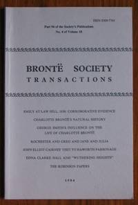 image of Brontë Society Transactions 1984 Part 94 Number 4 Volume 18