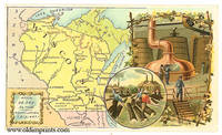 Wisconsin.  Arbuckle Bros. Coffee Co. trade card: map and vignette illustrations.