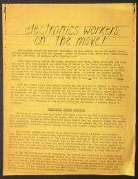 image of Electronics workers on the move! [handbill]