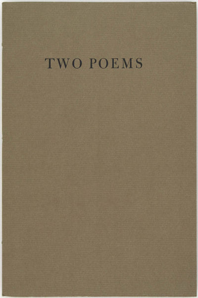 New York: Glenn Horowitz Bookseller, 2001. Fine in sewn wrappers.. First Edition. Thin octavo. SIGNE...