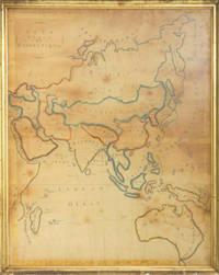 Asia Drawn by Electa Curtis. Pen & ink map of Asia drawn by NY state student