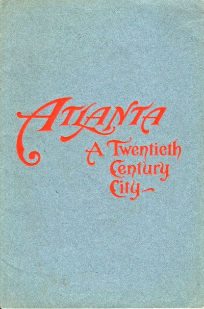 Atlanta: Byrd Printing Company, 1904. First Edition. Wraps. Very good. Wraps. 40 pages. Illustrated ...