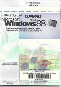 Windows 98 for COMPAQ PC only by Microsoft - Paperback - 1998 - 1998 - from Paper Time Machines and Biblio.co.nz