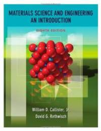 image of Materials Science and Engineering: An Introduction, 8th Edition