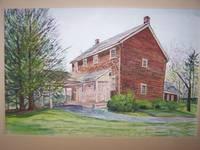 """image of Original Artwork Entitled """"Farmhouse, Bethpage Park, NY"""""""
