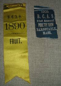 image of Lot of 2 Antiquarian Ribbons from the B. C. A. S. Barnstable County  Agriculture Society