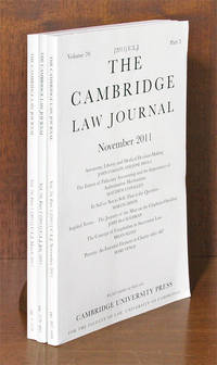 Cambridge Law Journal. Vol. 70 (2011). Complete in 3 parts by Cambridge University Press  - 2012  - from The Lawbook Exchange Ltd (SKU: 67191)