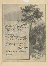 Original Sketches, Watercolors, Photographs, Correspondence, other Manuscript Material, Printed Ephemera and Contemporary Newspaper Reviews, of popular and prolific British Watercolorists Albert and Mary Stevens, who flourished between 1880 and 1925
