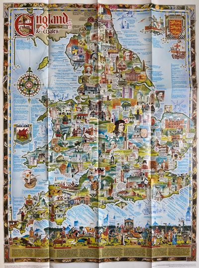 Somerset: Heritage Print & Design, 1981. First. Map. Measures 27 1/4