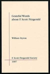 image of Grateful Words about F. Scott Fitzgerald