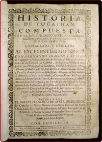 Historia de Yucathan. by  Diego López de Cogolludo - Hardcover - 1688 - from Philadelphia Rare Books & Manuscripts Co., LLC (PRB&M)  and Biblio.co.uk