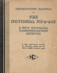 Instruction Manual for the National NC-2-40D