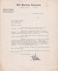 TYPED LETTER TO IMPRESARIO JAMES POND ABOUT A LECTURE SERIES SIGNED BY BROADWAY PRODUCER AND DIRECTOR S. JAY KAUFMAN.