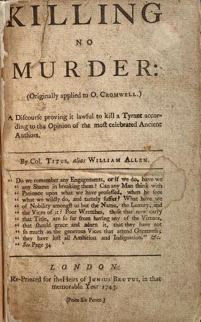 Killing No Murder: (Originally...