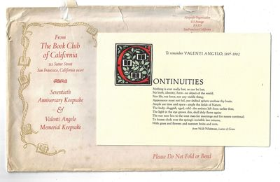 San Francisco: Book Club of California, 1982. Softcover. Fine. Book Club of California Keepsake prin...
