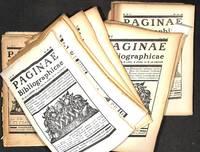 Pagina Bibliographicae.