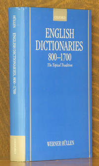 English Dictionaries 800-1700 The Topical Tradition