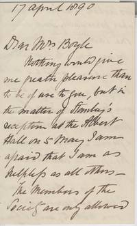 image of Fine Long Autograph Letter Signed to Mrs Boyle (Sir Samuel White, 1821-1893, Explorer & Sportsman)
