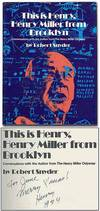 View Image 1 of 3 for This is Henry, Henry Miller from Brooklyn: Conversations with the Author from The Henry Miller Odyss... Inventory #54401
