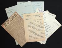 Ensemble de lettres de condoléances reçues par Hélène Pichon-Janet suite au décès d'Edouard Pichon, et nécrologies