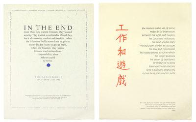 "Two broadsides 11 3/4 x 15 7/8""printed in blue and black; printed in red and black. Lake Tahoe: Ju..."