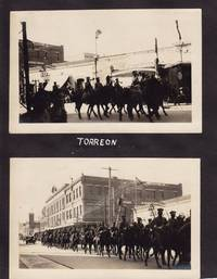 Nineoriginal Black and White Photographs of Soldiers in Torreon, Mexico, Including Two Street Scenes. circa 1930s. photos Measure 3 3/4 X 5 3/4 and Are Glued Totrimmed Album Pages but Are Otherwise in Near Fine Condition
