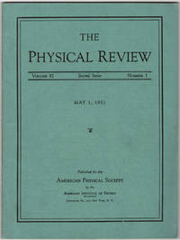 DISCOVERY OF POSITRONIUM: Evidence for the formation of positronium in gases. (Physical Review 82...