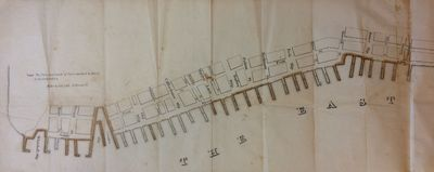 Miller & Co. unbound. Map. Lithograph with original hand coloring. Sheet size 13.25 x 60.75 inches. ...