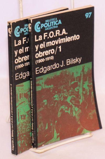 Buenos Aires: Centro Editor de América Latina / Biblioteca Politica Argentina, 1985. Paperback. Two...