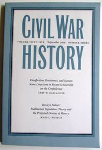 CIVIL WAR HISTORY: VOLUME FIFTY-FIVE - NUMBER THREE - SEPTEMBER 2009 - Vol. LV No. 3