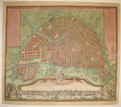 Nuremburg: Homann, Johann Baptist. unbound. Map. Copper plate engraving with original hand coloring....