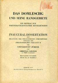 Das Domleschg und seine Randgebiete.