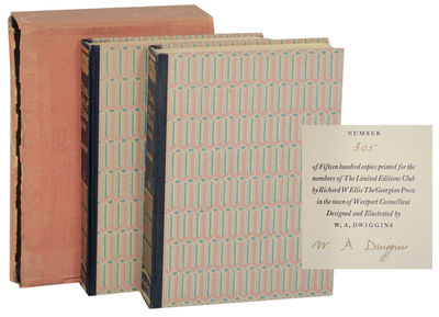 New York: The Limited Editions Club, 1930. First edition. Small hardcovers. Number 305 from an editi...