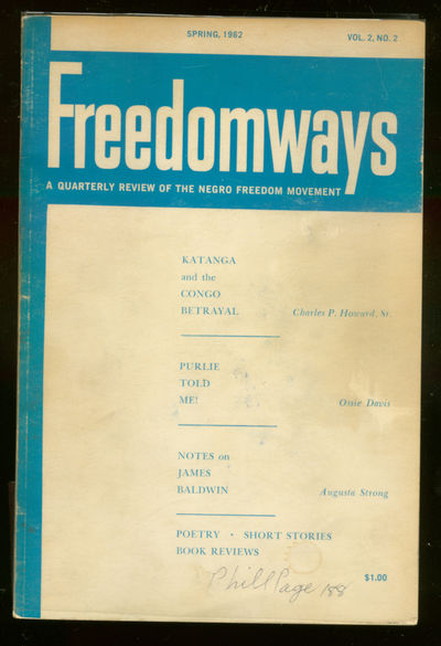 New York: Freedomways Assoc, 1962. Softcover. Very Good. First edition. Hinge beginning to crack els...